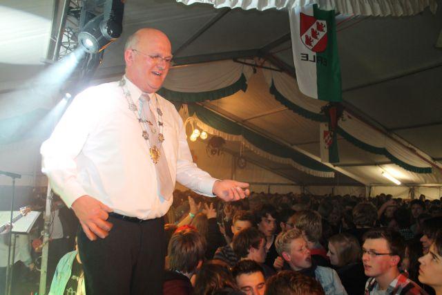 Präsident  Arno Brömmel gab den Ton an
