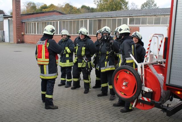Grosseinsatzübung Feuerwehr Raesfeld, Löschzug Erle sowie DRK in Raesfeld