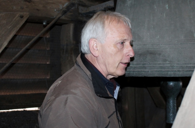 Hermann Josef Buning im Glockenturm von St. Martin Raesfeld