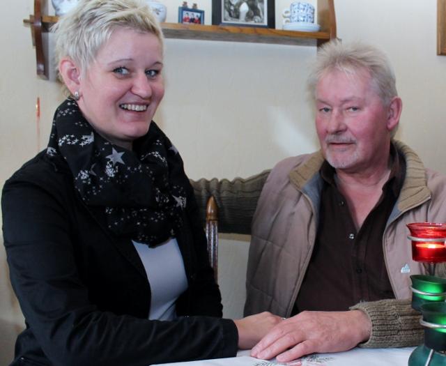 Verbunden durch die Niere des Vaters - Tanja Seffler und Richard Eising
