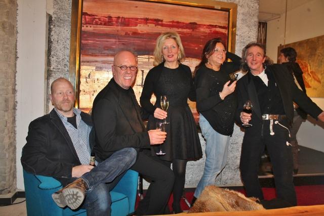 Das Dreamteam von der Galerie Hetkamp in Dorsten v.li.: Thomas Flinks, Helmut Ackmann, Marlene Hübers, RoseRichter-Armgart und Norbert Then