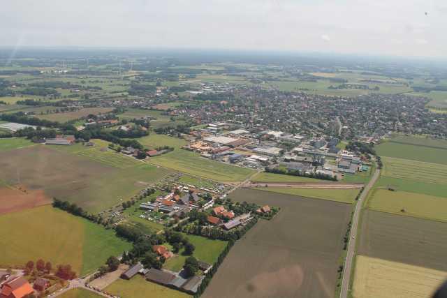 Der Bauernmarkt aus der Luft