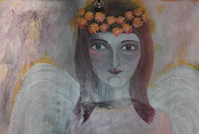 Ein Engel von Erika Niggemann Acryl auf Leinwand