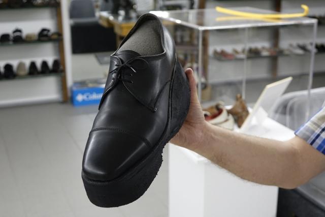 Geschmuggelt - im Schuh