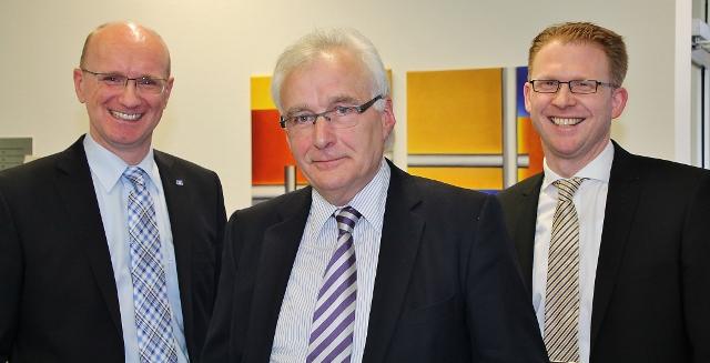 Ralf Steiger, Ludger Hueging und Michael Weddeling Volksbank Erle