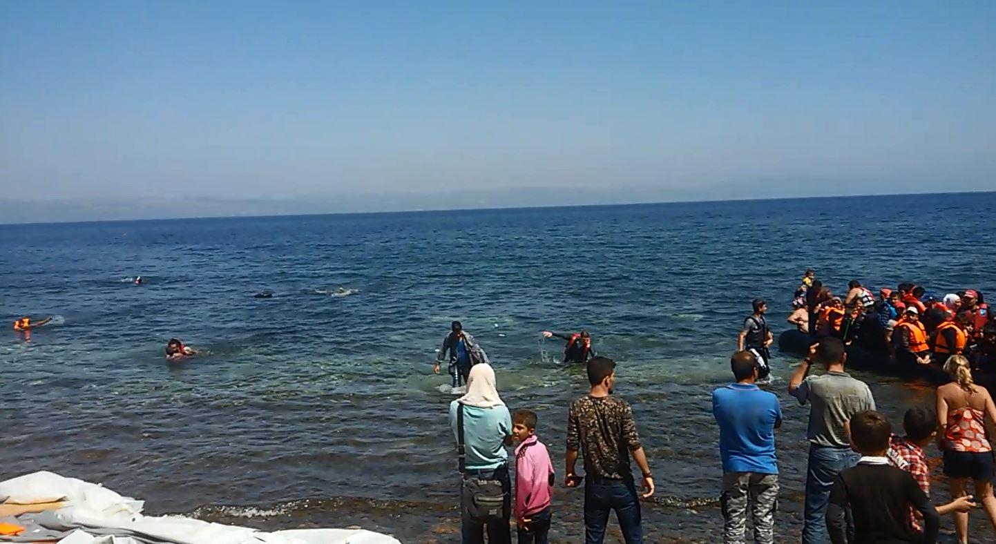 Bootpeople Griechenland-Ankunft Samos