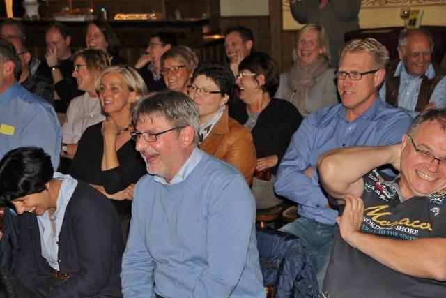 Das Publikum kringelte sich vor Lachen im Saal von Brömmel-Wilms.