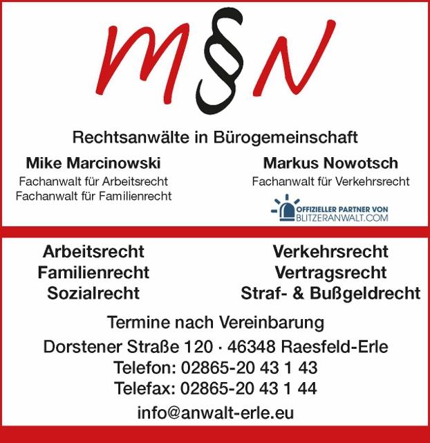 Rechtsanwälte in 46348 Raesfeld-Erle