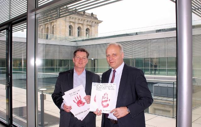 v.l.n.r. Eckhard Pols MdB und Johannes Röring MdB
