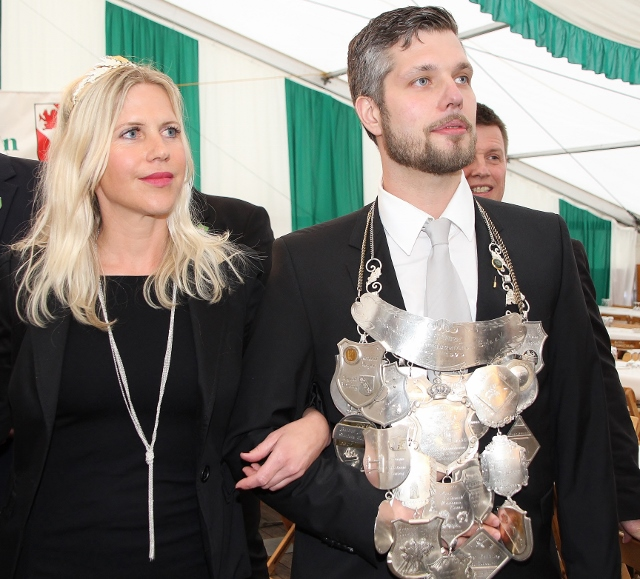 Erler Schützenkönig Manuel Jakob und seine König Janin Gülcher_ Foto-Petra Bosse
