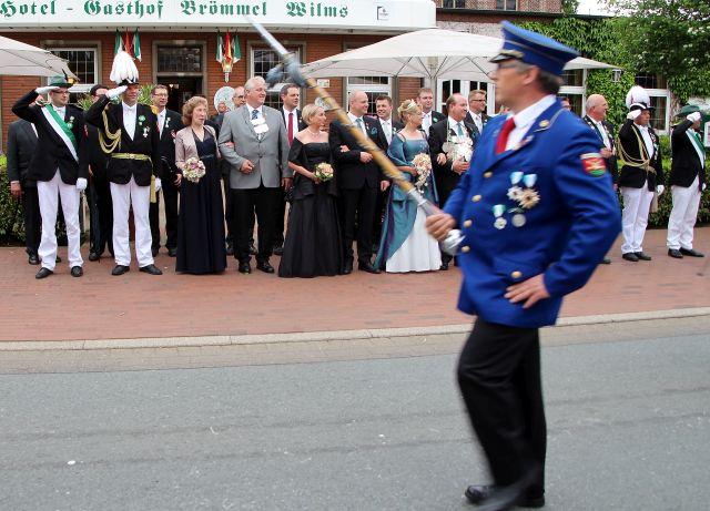 Der Erler Schützenverein präsentierte sich am Sonntag bei der großen Parade.