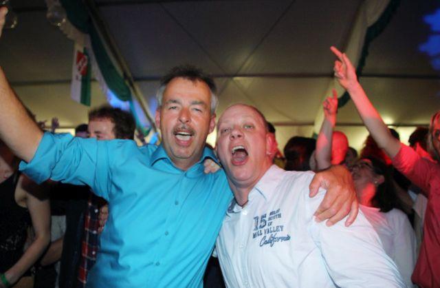 Partytime im Schützenfestzelt Erle Samstagnacht 2016