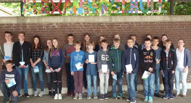 Känguru-Wettbewerb Alexanderschule Raesfeld 2016