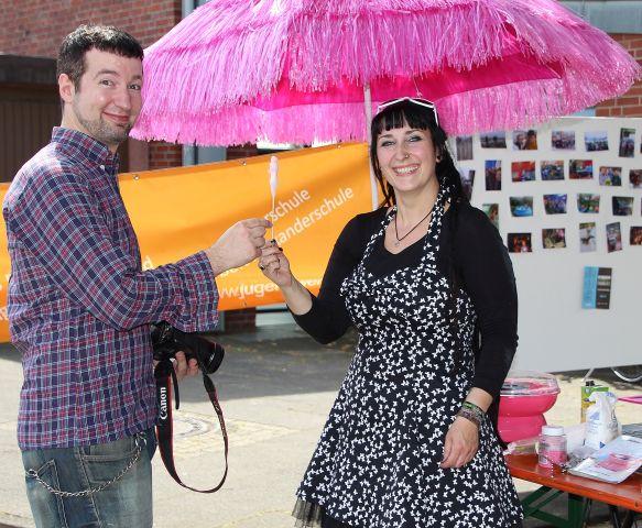 Philipp Hatkämper und Tanja Regmann präsentierten die Jugendhäuser