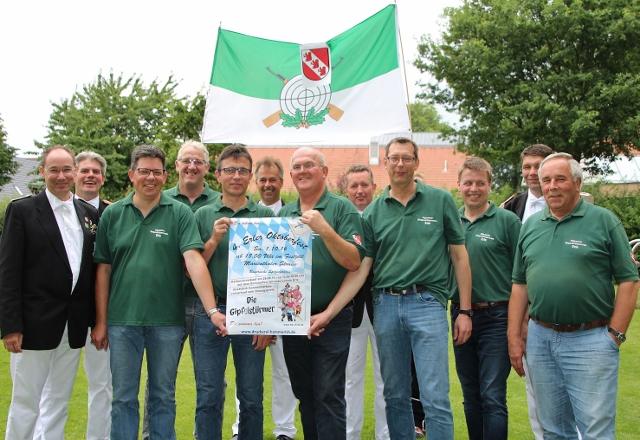 Der Vorstand des Allgemeinen Erler Bürgerschützenverein freuen sich auf das bevorstehende 4. Oktoberfest.