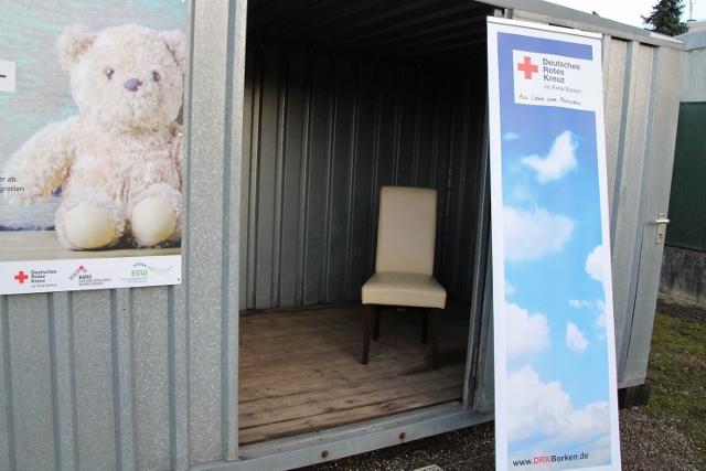 Neuer Container auf dem Wertstoffhof in Raesfeld für wiederverwertbare Gegenstände wurde neu aufgestellt.
