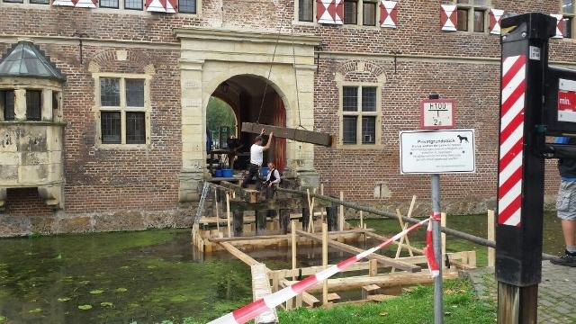 Inklusion Schloss Raesfeld Brückenbauarbeiten