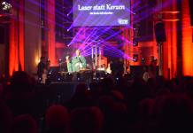 Laser statt Kerzen 2018 St. Silvester Kirche Erle