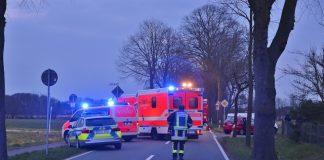 Unfall Rhader Straße in Raesfeld