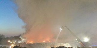 Grossbrand Borken Firman Borchers Feuerwehr Raesfeld im Einsatz