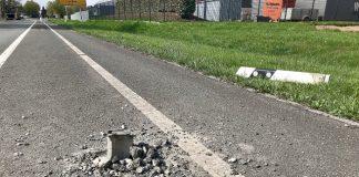 Leitpfosten B224 entfernt Polizei