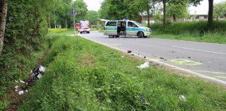 Motorradfahrer in Heiden Lembeckerstrasse schwer verletzt