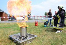 Richtig Löschen mit dem Feuerlöscher bei Gemeindebrandmeistr