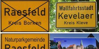 Naturparkgemeinde Raesfeld Ortsschild