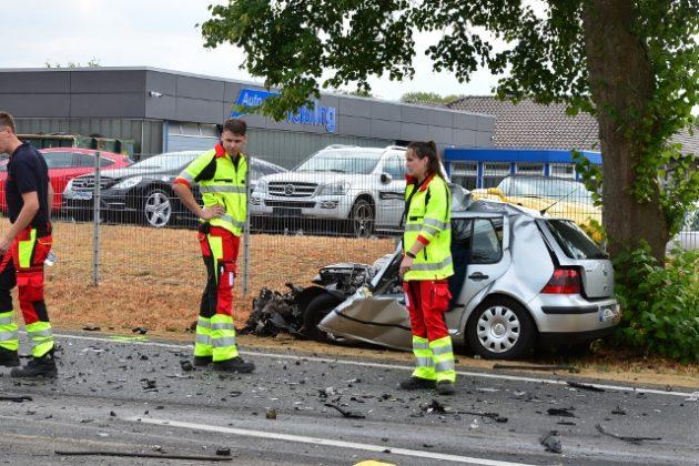 Zweit Tote bei Verkehrsunfall in Raesfeld Erle