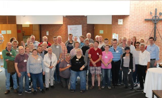 """Viele Teilnehmerinnen und Teilnehmer aus Einrichtungen der Behindertenhilfe kamen zur Veranstaltung """"Bewohnerbeiräte reden mit"""" ins Kreishaus."""