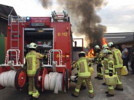 Feuerwehr Raesfeld Brandeinsatz Raesfeld