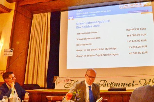Generalversammlung Volksbank Erle 2018