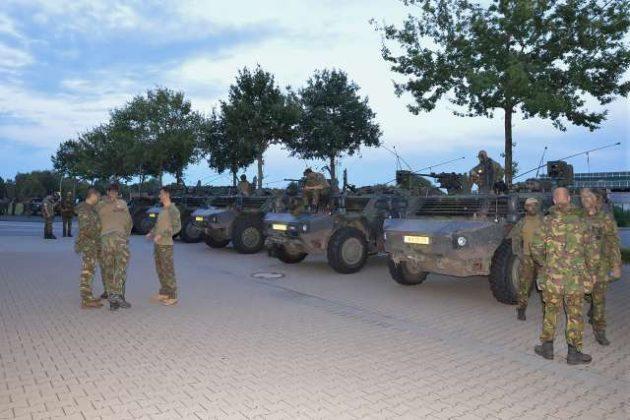 Niederländische Armee Manöver in Raessfeld
