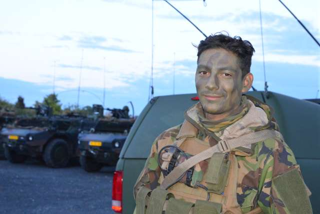 Niederländische Armee Manöver in Raesfeld