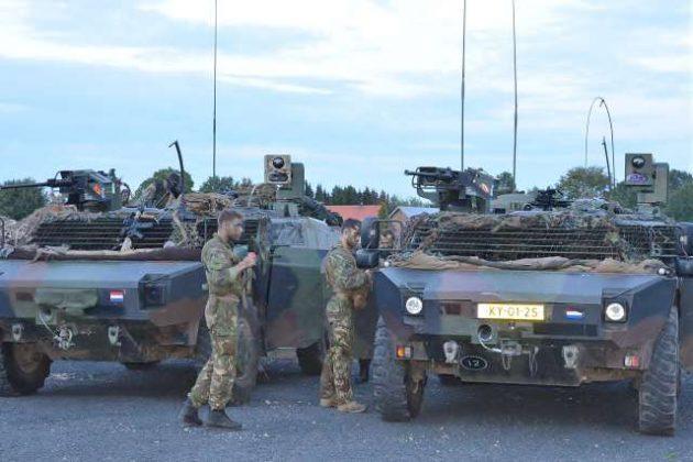 Niederländische Spähpanzer in Raesfeld