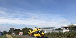 Schwerer Verkehrsunfall mir Motorradfahrer in Raesfeld