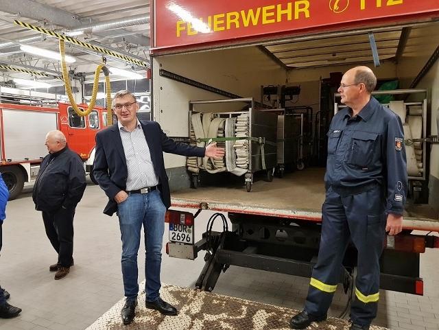 Willi Korth CDU bei der Feuerwehr in Raesfeld (4)