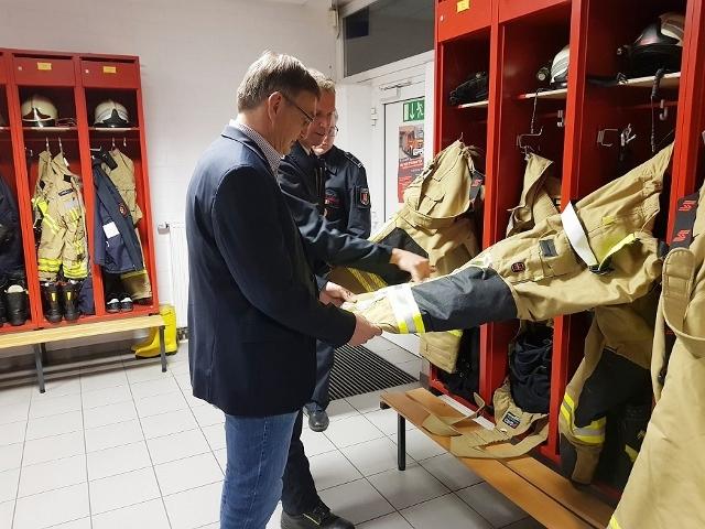 Willi Korth CDU bei der Feuerwehr in Raesfeld