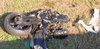 Unfall B 224 Raesfeld mit Kradfahrer