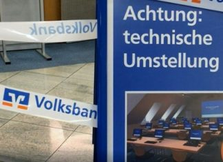 Technische Umstellung volksbanken Raesfeld und Erle