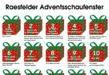 Raesfelder Adventsschaufenster 2018