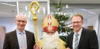 Nikolaus in der volksbank Erle