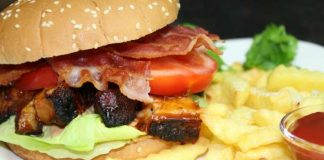 Pork Belly Burnt Ends Burger