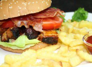Pork Belly Burnt Ends Burger