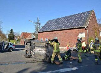 Unfall Erle Kreuzung Schermbecker-Marienthaler Strasse am Dienstagmorgen