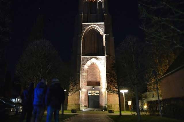 Kirchplatzerneuerung Erle-neue Strahler Silvesterkirche
