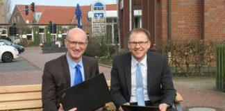 Vorstände Ralf Steiger und Michael Weddeling Volksbank Erle