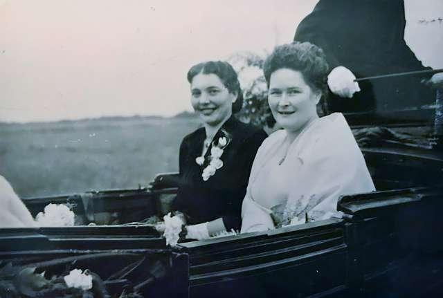 Von links Maria Stenert, Anneliese Grunewald