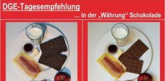 DGE-Tagesempfehlung in der Währung Schokolade