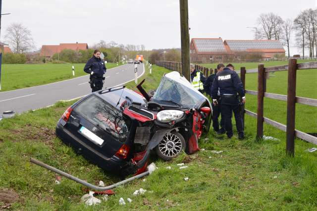 Unfall Dorstener Postweg Raesfeld-Marbeck